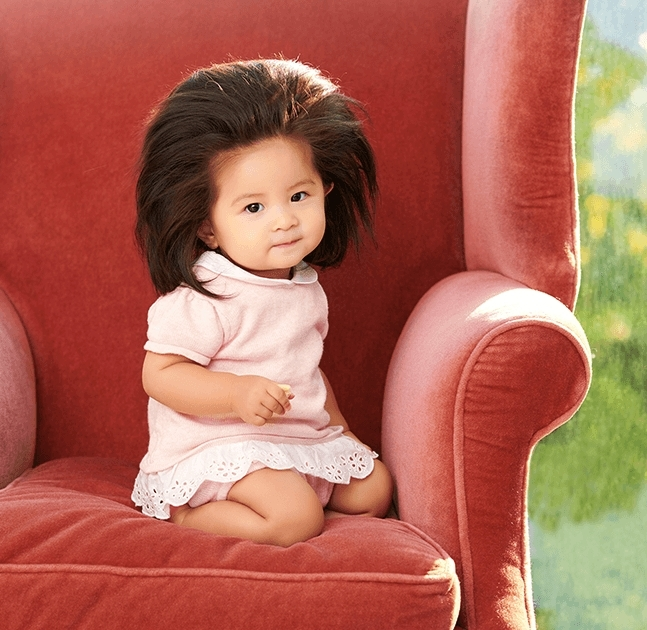 Japanese Baby With Famously Incredible Hair Is Now a Pantene Model