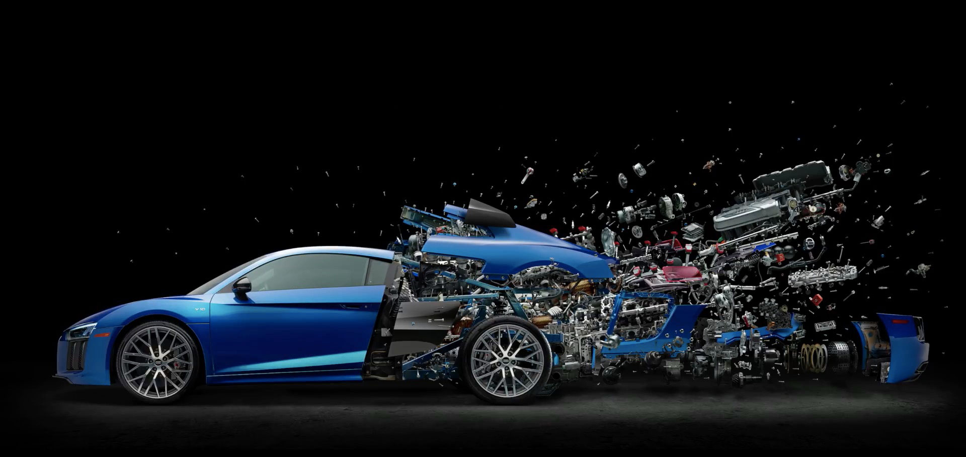 An Audi R8 That Died During An Airbnb Promotion Becomes An Explosive Work Of Art Muse By Clio