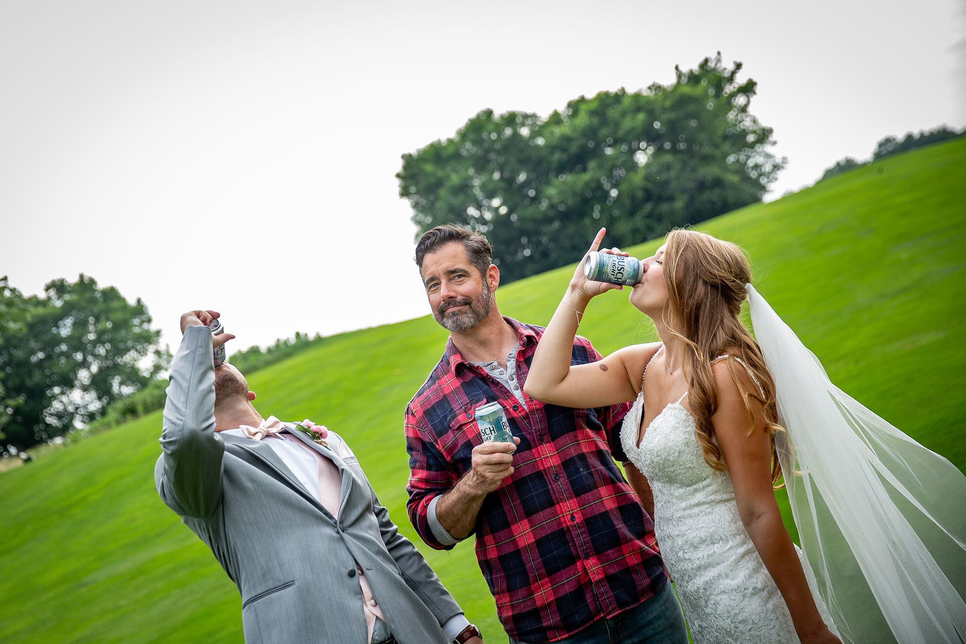 The Busch Guy Officiated This Couple's Wedding Last Weekend