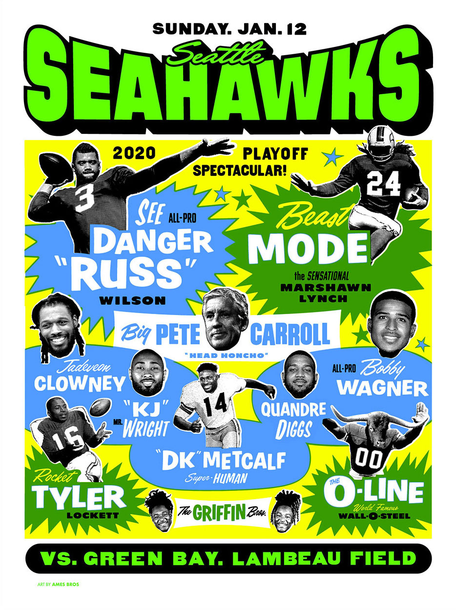 Poster Boys Seattle S Ames Bros On Their Designs For The Seahawks Pearl Jam And More Muse By Clio