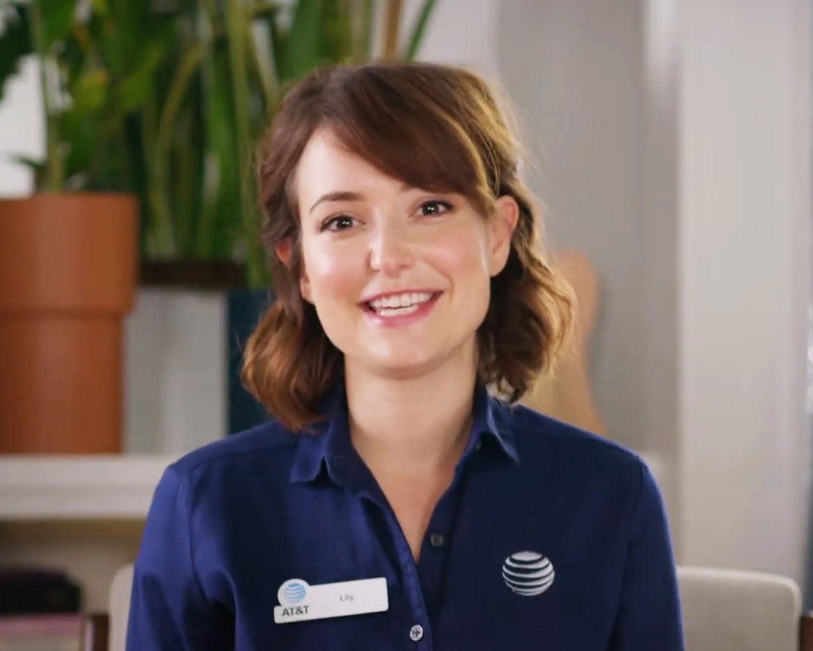 Lily Returns For At T As Milana Vayntrub Shoots New Ads At Home Muse By Clio