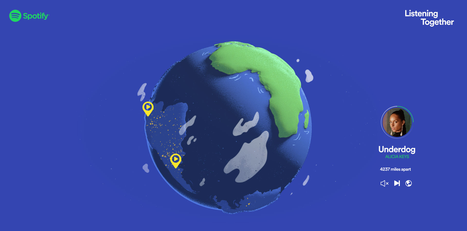 Spotify's New Global Map Tags People Who Are Playing the Same Song ...