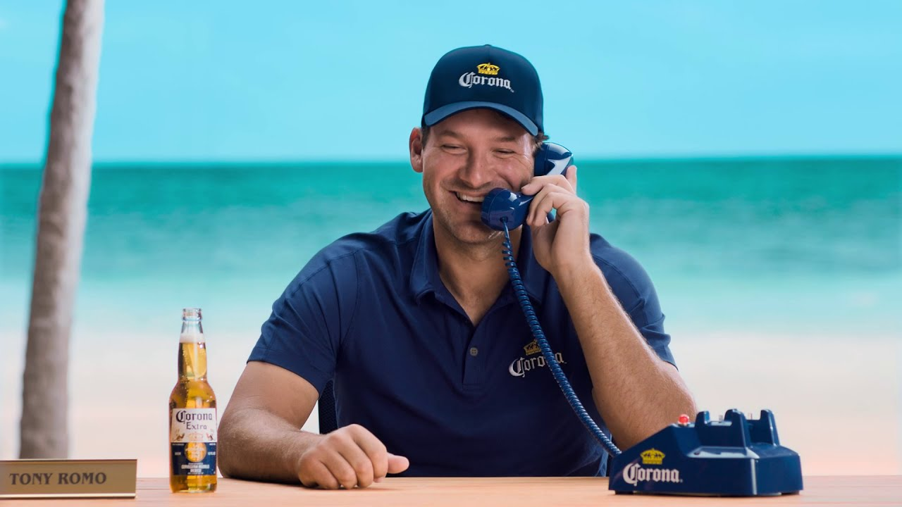 Tony Romo Seeks Corona Hotline Replacement for Game Day | Muse by Clio