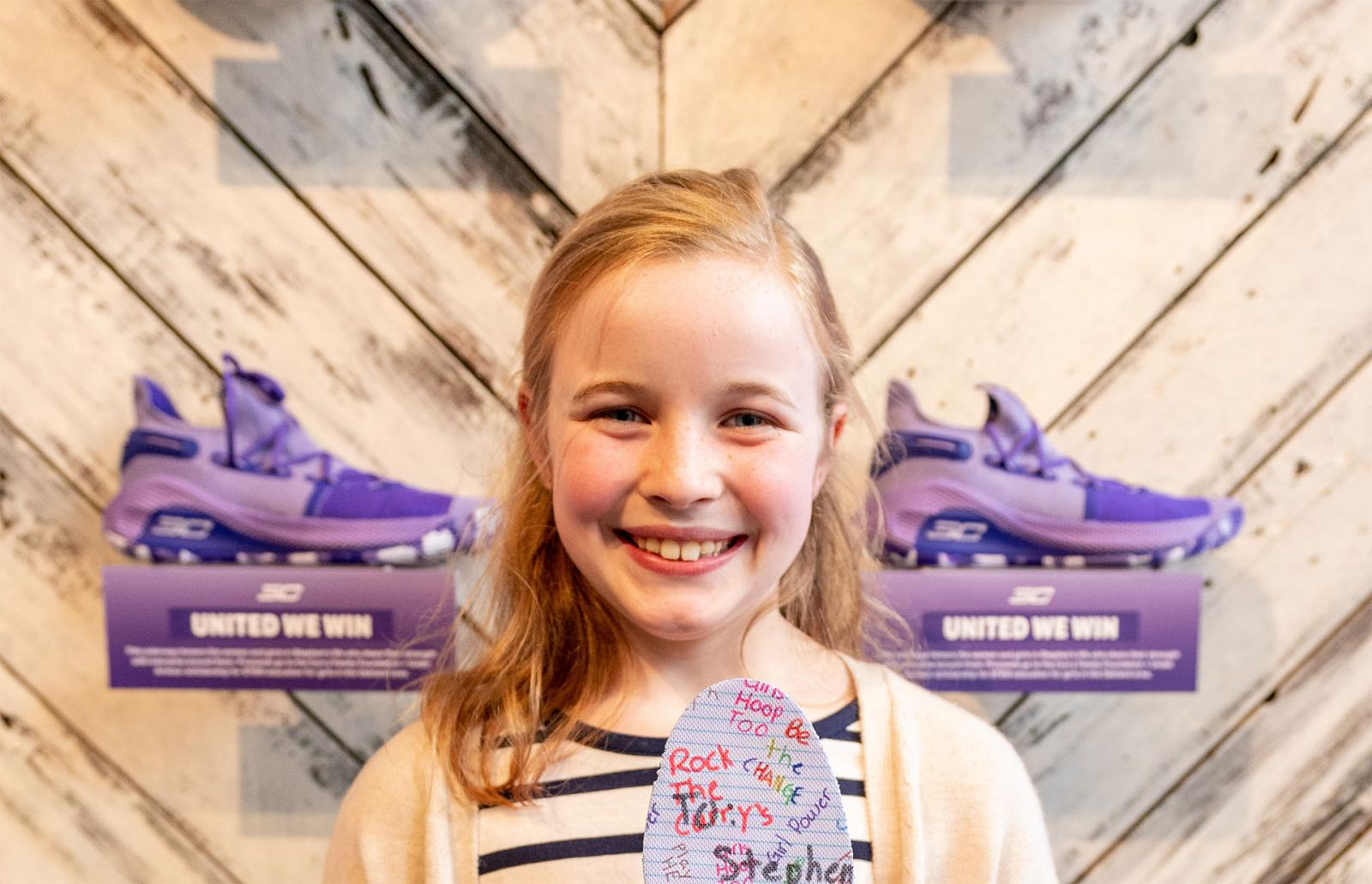 ce8ac118 A 9-Year-Old Girl Designed Steph Curry's New Under Armour Sneaker ...