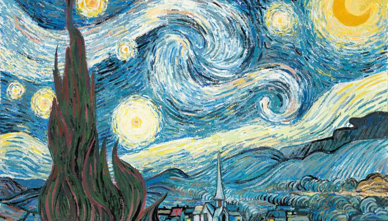 "John Myatt   ""The Starry Night"""