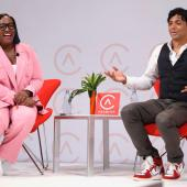 Tiffany R. Warren and M. Night Shyamalan at AdColor